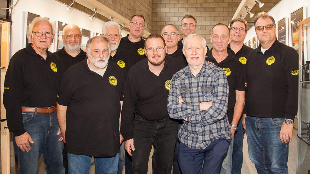Les membres du club lors de l'exposition 2017